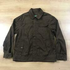 Timberland Dark Brown Cotton Casual Lightweight Coat Jacket XL Collared