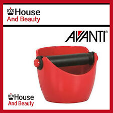 NEW! AVANTI RED COFFEE KNOCK BOX ESPRESSO GRINDS WASTE TAMPER BIN