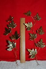 Home Interior Set of 2 Copper & Metal Leaf Leaves Wall Hanging Leaves T4