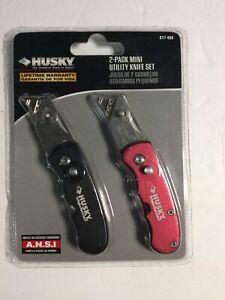 Husky 2 Pack Mini Utility Knife Set