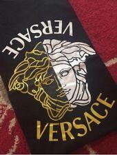 Men's Versace Medusa Motif Crew Neck T-Shirt, Pure Cotton, Size Small, in Black