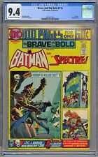 Brave and the Bold #116 CGC 9.4 NM OwWp 100 Page Giant DC 1974 Batman & Spectre