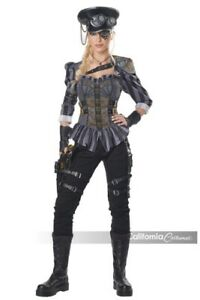 STEAMPUNK CAPTAIN ADULT WOMENS COSTUME