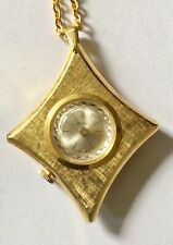 Swiss Made Webster Vintage Wind Up Necklace Pendant Watch