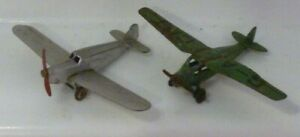 VINTAGE DINKY TOYS AIRCRAFT LIGHT RACER AND PERCIVAL GULL