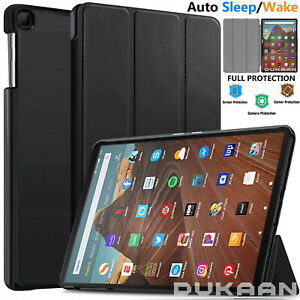 """Leather Cover Magnetic Smart Tablet Case for AMAZON Kindle Fire HD 10, HD 8"""", 7"""""""