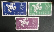 CYPRUS 1962 Europa Cept 19 doves the member countries of Europe, 3 MNH stamps !!