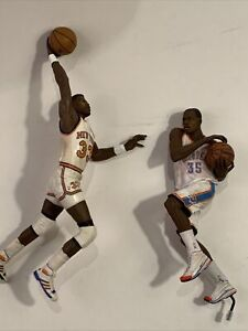 Patrick Ewing And Kevin Durant Mcfarlane Lot Used Loose Stained