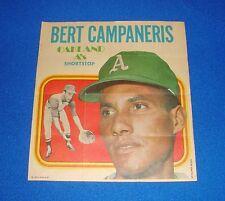 Vintage Topps Baseball Insert Poster Bert Campaneris A's
