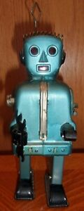 Vintage 1950s Nomura Ratchet Robot Tin Toy George G. Wagner Japan