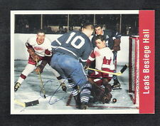 Autographed George Armstrong 1994 UD 1956-57 Parkhurst Reprint #158 Maple Leafs