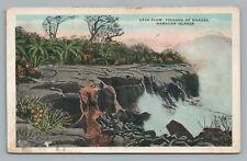 Kilauea Lava Flow—Antique Hawaii Volcano Geology—Island Curio Pub 1910s
