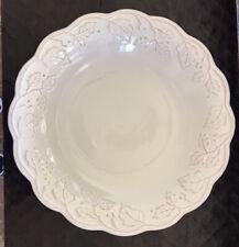 "New ListingLongaberger Vintage Vine Cream Pottery Large Serving Bowl 13"" X 2 1/4"""