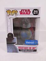 Funko Pop! Star Wars Last Jedi Resistance BB Unit #211 Walmart Exclusive