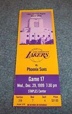 Los Angeles Lakers vs. Phoenix Suns Game Ticket 1999 Staples Center
