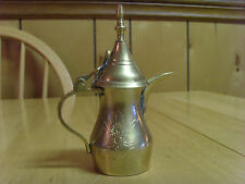 VINTAGE TURKISH OTTOMAN SOLID BRASS SMALL DECORATIVE EWER PITCHER COFFEE POT, 4""