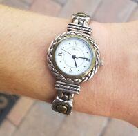 Vintage Brighton Silver Tone Wrist Watch. Needs Battery. Not Working