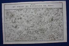Original antique map POLAND, BATTLE OF HOF, DWORZNO, Tardieu c.1824