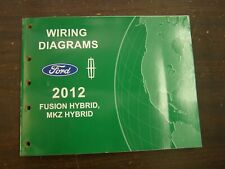 OEM Ford 2012 Fusion Hybrid Shop Manual Wiring Diagram Book nos Lincoln MKZ