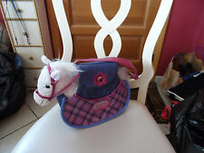 Girls pink and blue handbag ,pet carrier w/ white Pony by Pucci Pups and Friends