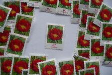 """50 Dauermarken M 3121, Pfingstrose, sk, Dauerserie """"Heimische Blumen"""",z.T. abgel"""