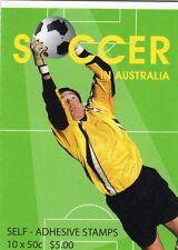 2006 AUSTRALIAN STAMP BOOKLET SOCCER IN AUSTRALIA 10 x 50c STAMPS MUH