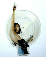 EX/EX! AC/DC SHAKE YOUR FOUNDATIONS SHAPED VINYL PICTURE PIC DISC