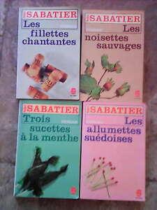 lot de 5 poche de de ROBERT SABATIER; les allumettes suedoises et suites...