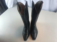 Cole Haan Womans 7B Black Leather High Fashion Cowboy Western Boots