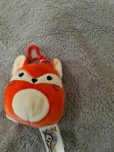 """Squishmallows Bag Clip On 3.5"""" Fifi the Red Fox"""