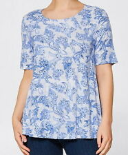 Target  Blue Paisley White Swing Top 14 Super Soft Light weight Viscose Casual