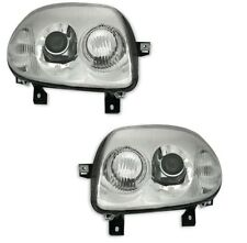 2 FEUX PHARE AVANT DOUBLE OPTIQUE RENAULT CLIO 2 PHASE 1 DE 5/98 A 05/01