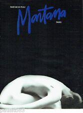 PUBLICITE ADVERTISING 116  1988  Montana  parfum de peau  nue