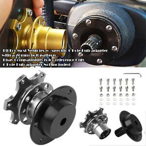 Aluminum Gunmetal Steering Wheel Detachable Quick Release Adapter Hub For Ford