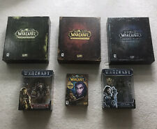 World Of Warcraft Collectors Edition Lot Burning Crusade Pandaria Draenor & More
