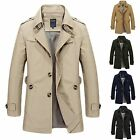 Para Parka hombre chaquetón chaqueta cazadora La sección larga Coat