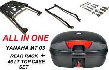 Yamaha MT03 MT25 rear rack +  46 LT top case set  2016-19 ALL IN ONE