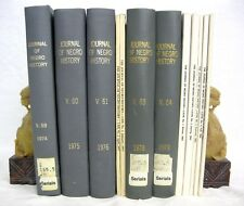 Journal of Negro History 1974 - 1984 5 Bound Volumes + 7 singles issues
