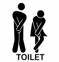 Stickers muraux-décor maison-motif autocollants-Art-décor Mural-Toilette-wc