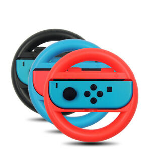 2 Pack Racing Steering Wheel Hand Grip for Nintendo Switch Joy-Con Controller