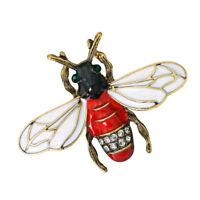 Fashion Crystal Rhinestone Insect Honeybee Brooch Pin Brooch Wedding Jewelry