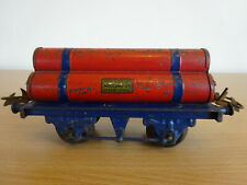 Hornby Series O Gauge Gas Cylinder Wagon Tinplate Vintage 1930's Meccano