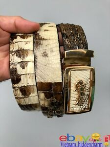 Very Unique Men's Belt - Genuine NATURAL Crocodile Skin-Special  Handmade Belt