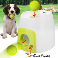 Mini Automatic Dog Pet Tennis Ball Interact Toy Fetch Training Thrower Machine