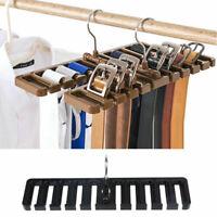 US Rack Tie Belt Scarf Bra Holder Hanger Closet Cabinet Hook Storage Organizer