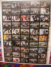 Formula 1 racing cards rare uncut card sheet with famous drivers 1991