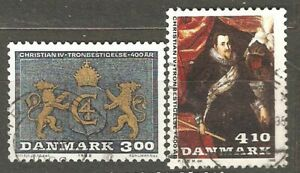 Denmark: set 2 used stamps, 400 years Accession King Christian I, 1983, Mi#914-5