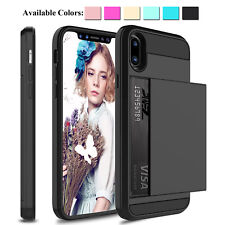 For iPhone 12 11 Pro Max/XS /XR/X Shockproof Case With Wallet Credit Card Holder