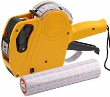 Price Gun With Labels Stickers Retail Pricing Tagging Labeler Rolls Ink 8Digits