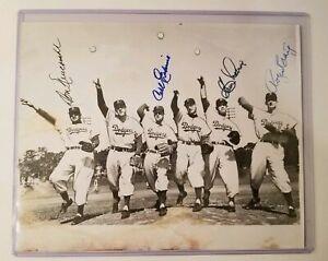 1955 Brooklyn Dodgers signed 8x10 autographed Photo BAS LOA Newcombe++